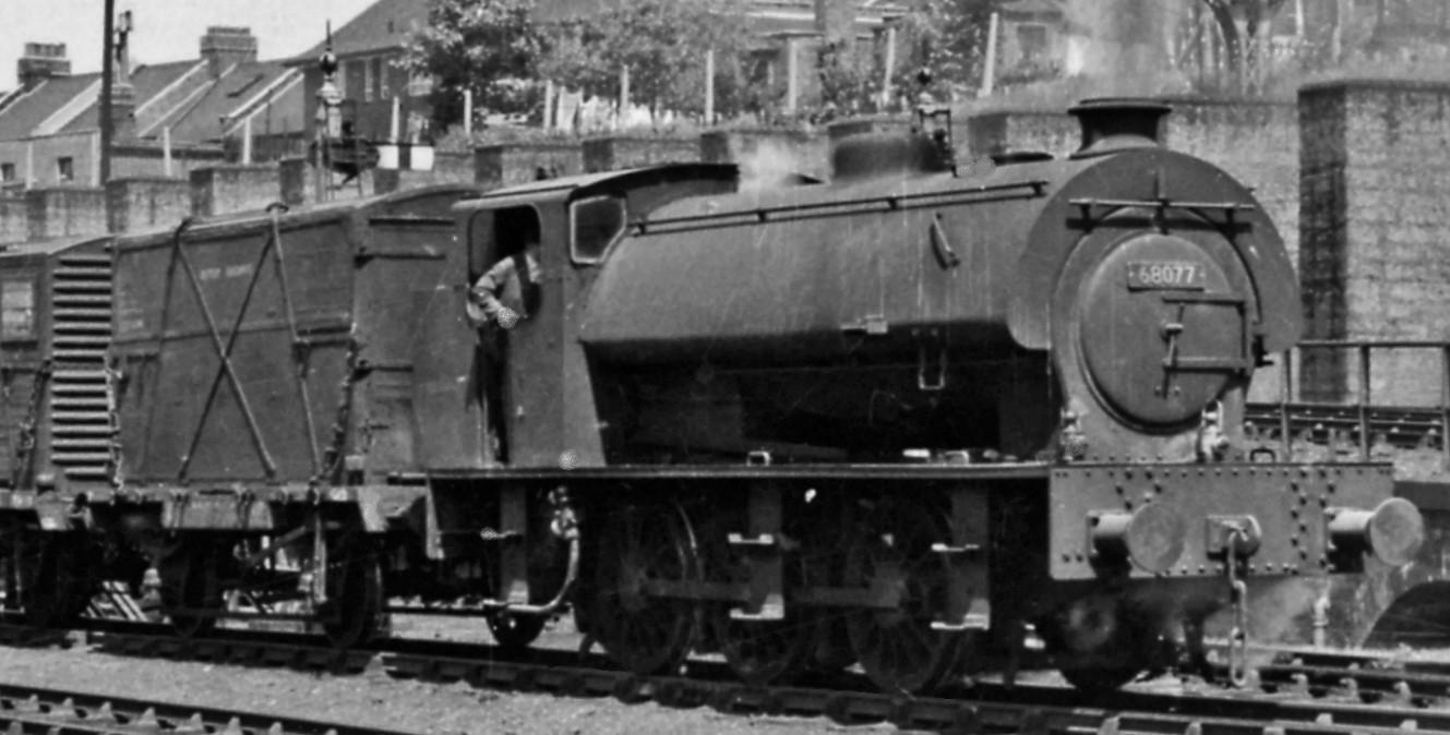 68077 at Harringay West in June 1959. ©Ben Brooksbank