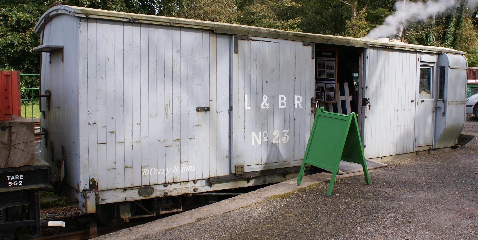 L&B Brake van no.23 at Woody Bay in September 2012. ©Hugh Llewelyn