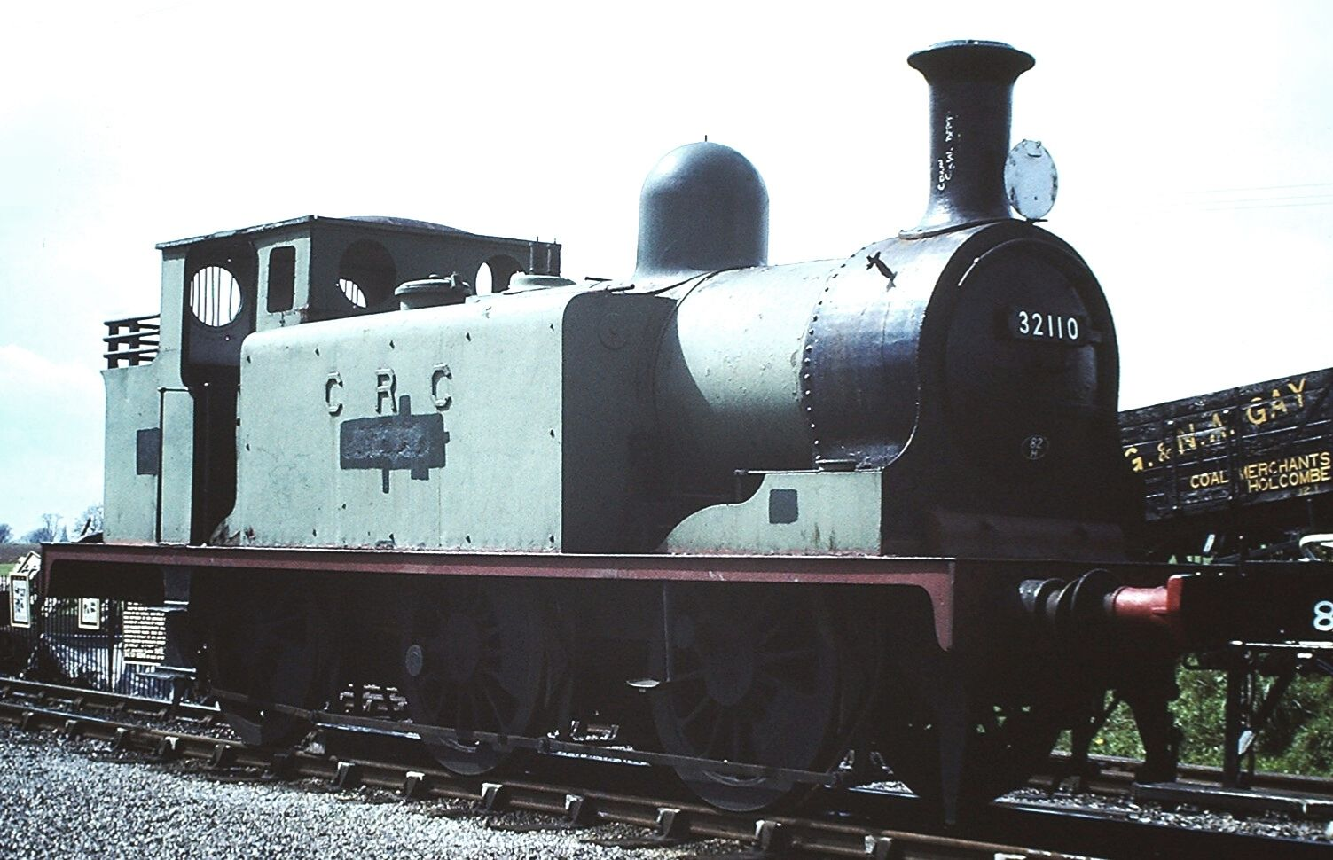 32110 'Burgundy' at Cranmore on the East Somerset Railway in May 1981. ©Hugh Llewelyn