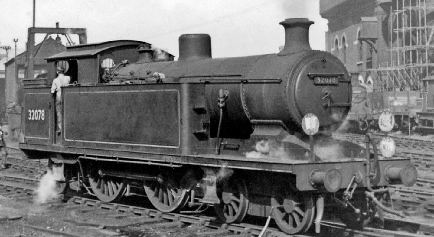 32078 at Brighton Locomotive Yard in March 1950. ©Ben Brooksbank