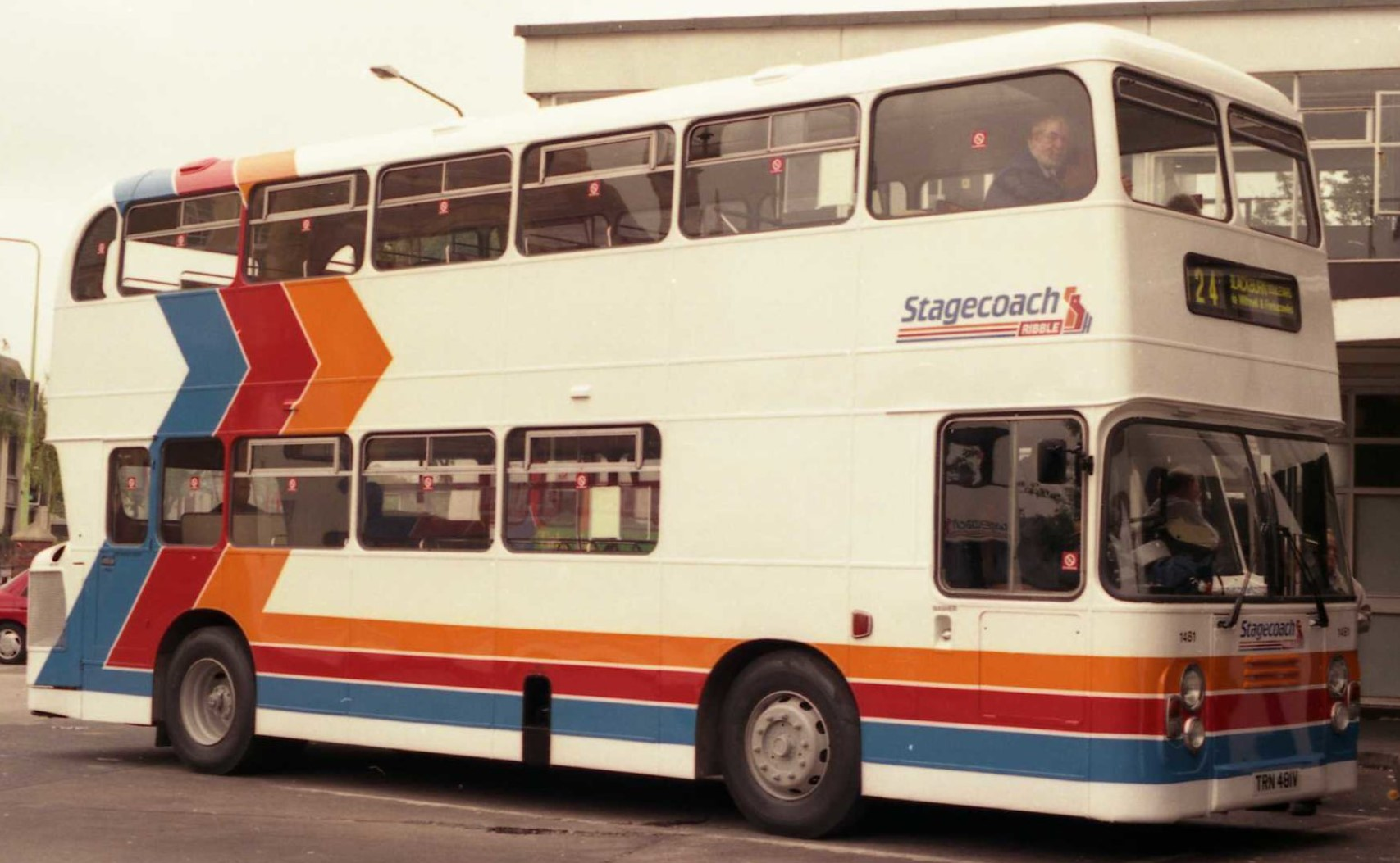 TRN 481V at Ribble Bus Station, Chorley in the 1990s. ©Public Domain