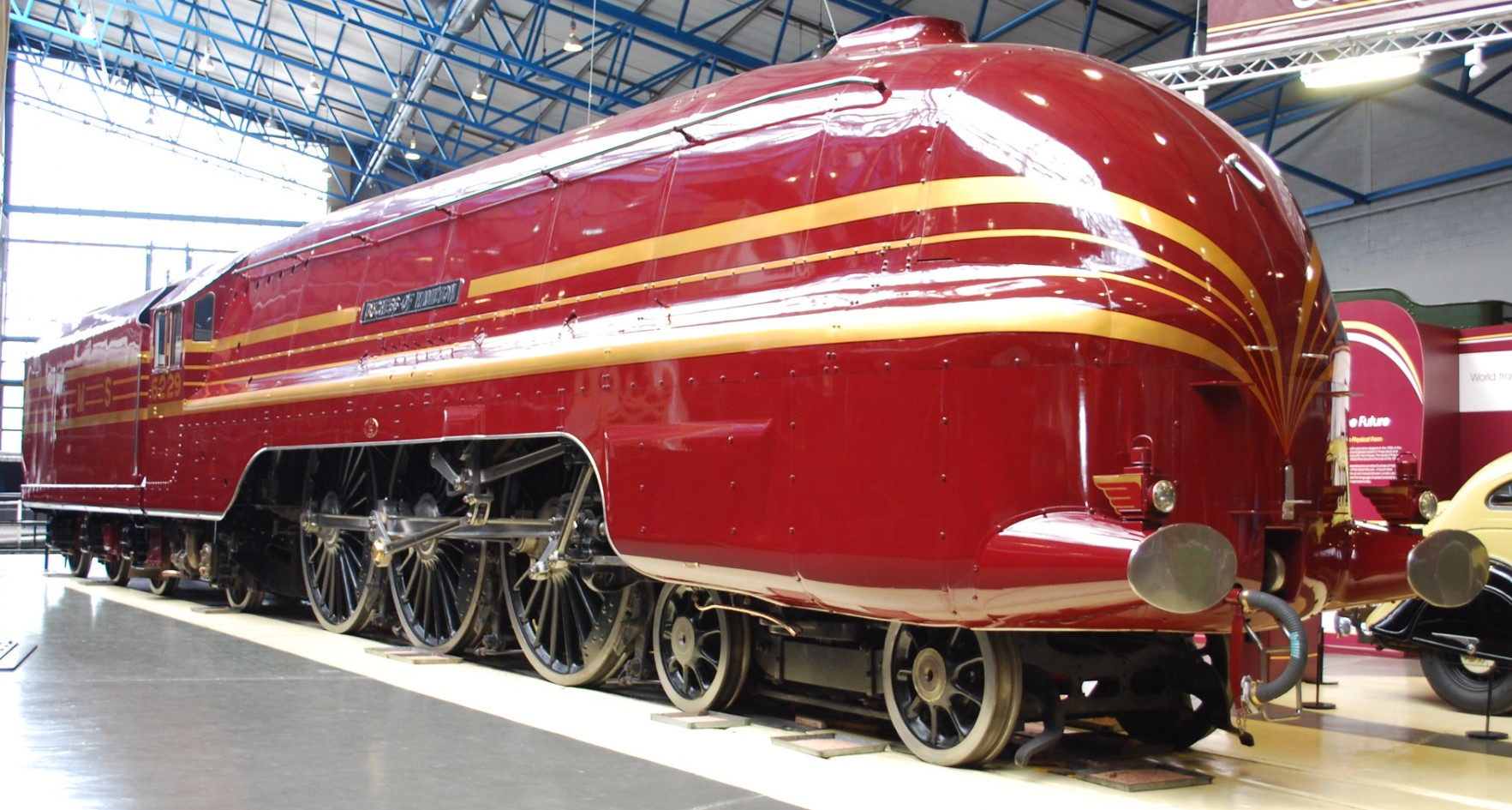 6229 Duchess of Hamilton at the National Railway Museum, York in September 2010. ©Hugh Llewelyn