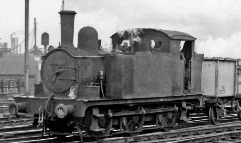 68571 at Stratford in December 1959. ©Ben Brooksbank
