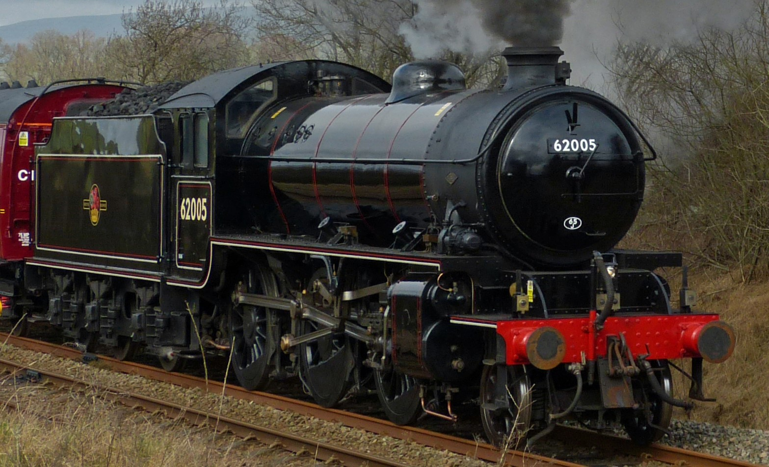 62005 near Clapham Viaduct in March 2014. ©Andrew