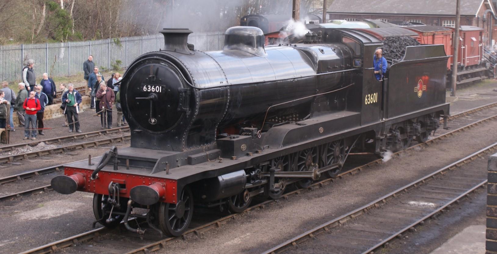 63601 at Barrow Hill in April 2009. ©Hugh Llewelyn