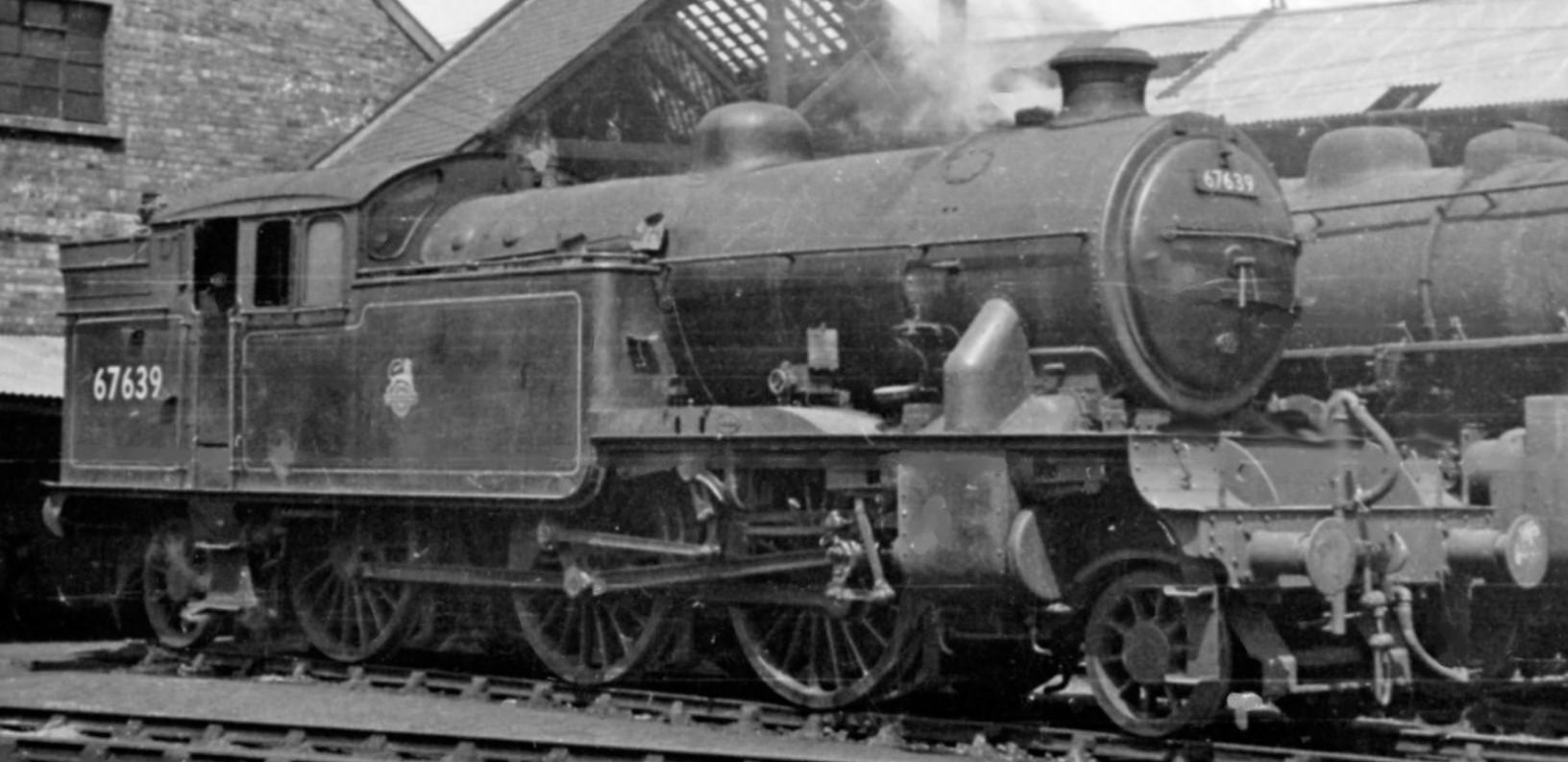 67639 at Middlesborough Locomotive Depot in June 1954. ©Ben Brooksbank
