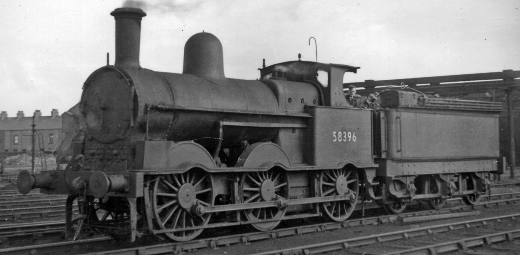 58396 at Workington Locomotive Depot in August 1951. ©Ben Brooksbank