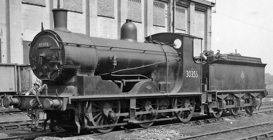30355 at Feltham Locomotive Depot in 1959. ©Ben Brooksbank