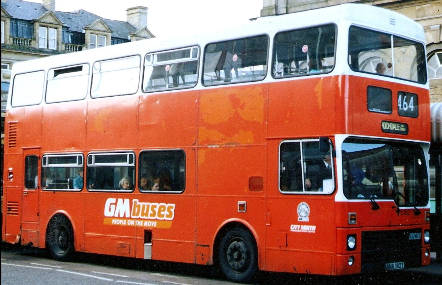 ANA 182Y at Acrington Bus Sation. Unknown date. ©Eddie Leslie