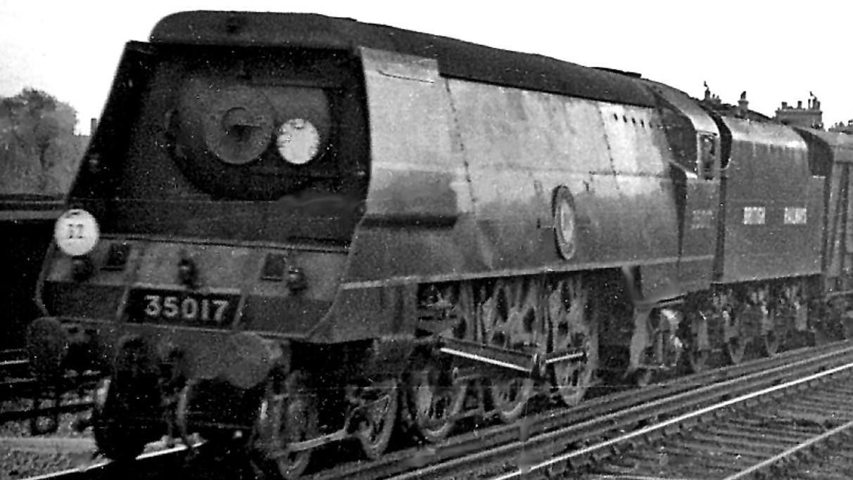 """35017 """"Belgian Marine"""" during the 1948 locomotive exchange trials. © Ben Brooksbank"""