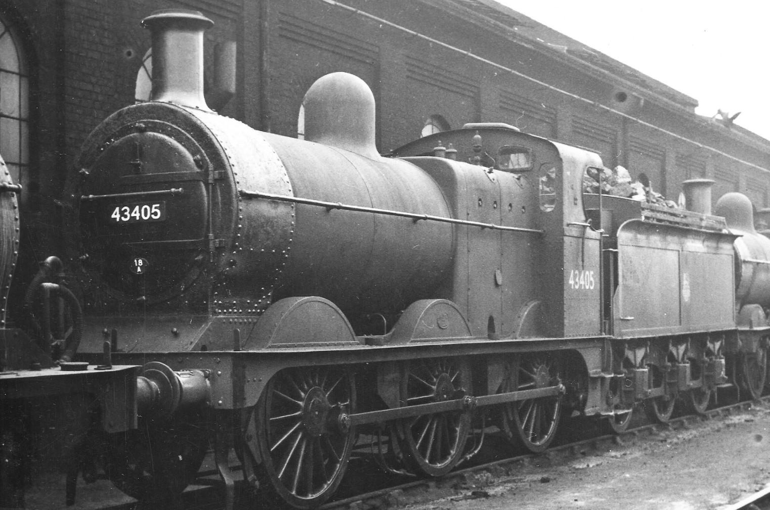 43405 at Derby shed in August 1957. © via Dan Adkins
