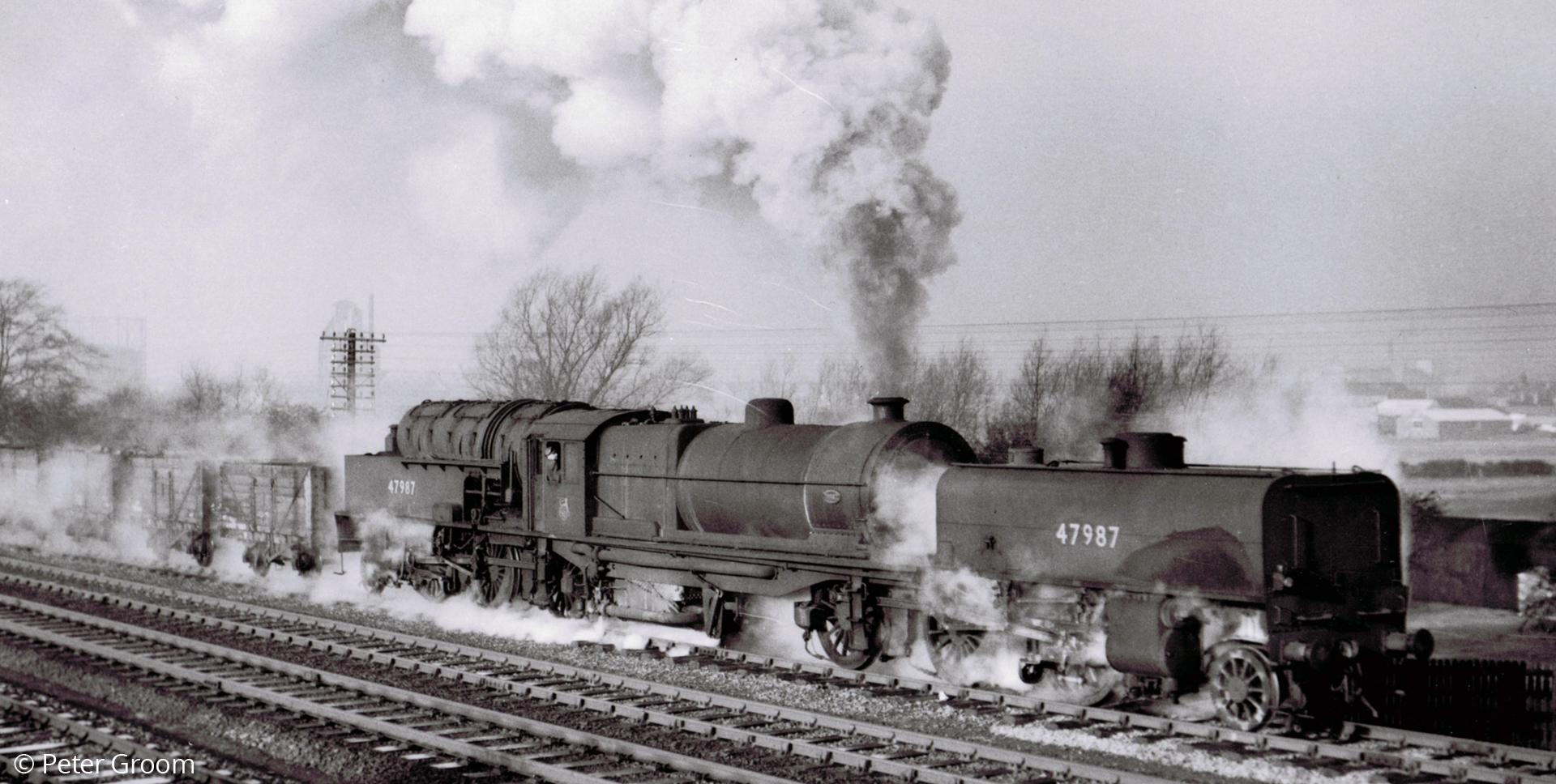 47987 at Melton Mowbray in December 1954. © Peter Groom