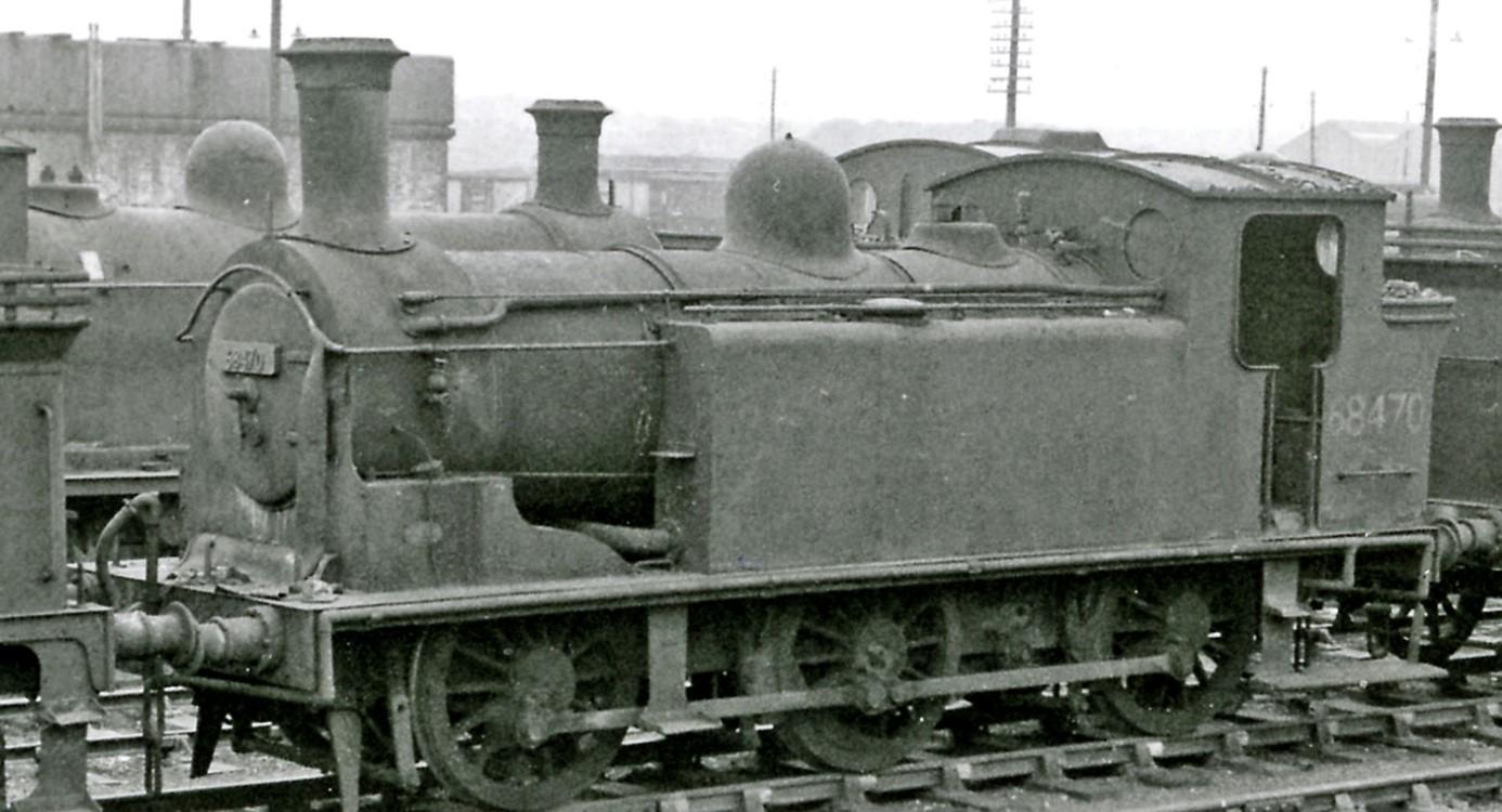 68470 at Bathgate Locomotive Depot in September 1962. ©Ben Brooksbank