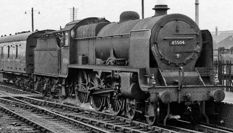 45504 at Bromsgrove in August 1960. ©Ben Brooksbank