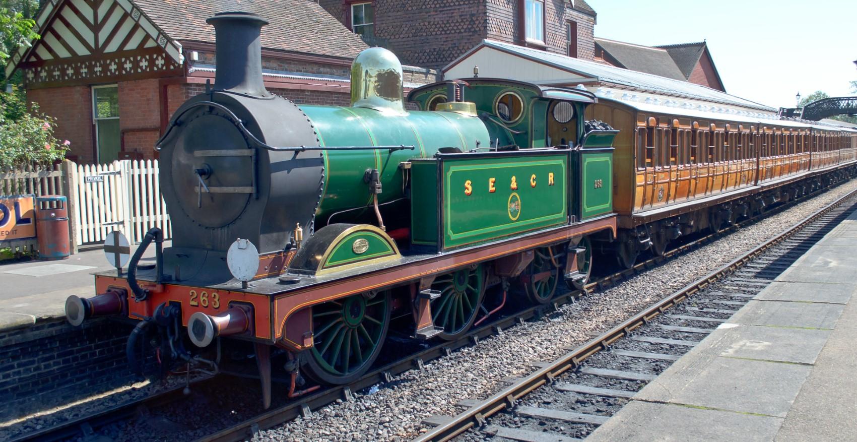 263 on the Bluebell Railway in August 2015. ©Dan Adkins