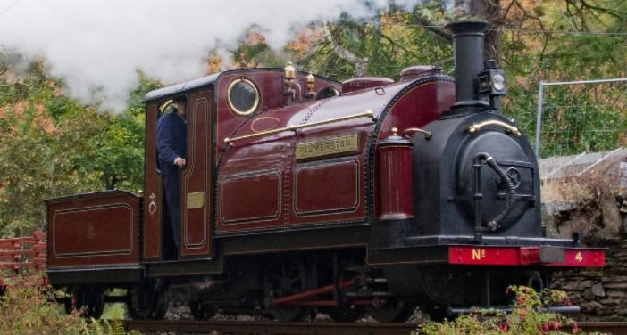 'Palmerston' at Coed y Bleiddiau on the Ffestiniog Railway. ©Andrew