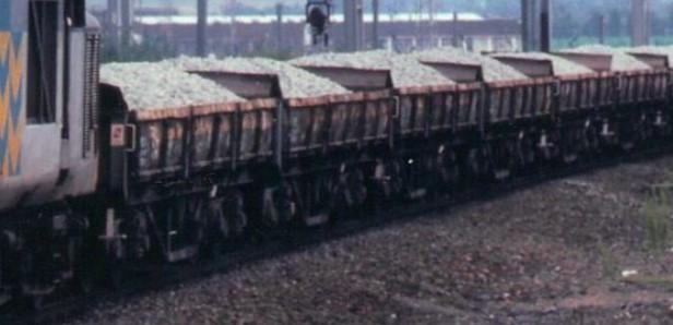 37503 hauls a rake of Turbot wagons at Warrington Bank Quay. © John Dedman