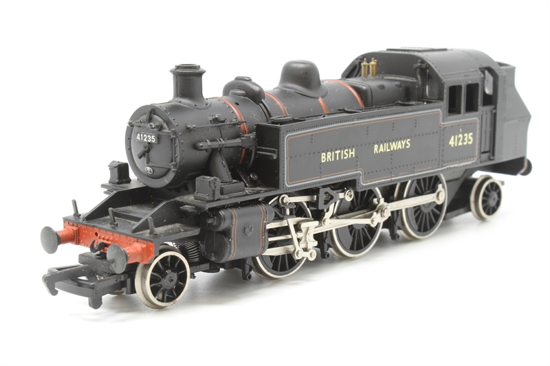 www.hattons.co.uk - Bachmann Branchline 31-457-PO12 Class 2MT Ivatt 2-6-2T 41235 in BR lined black - Pre-owned - wobbly runner - worn paintwork - missing vacuum pipes and rear coupling - Replacement box