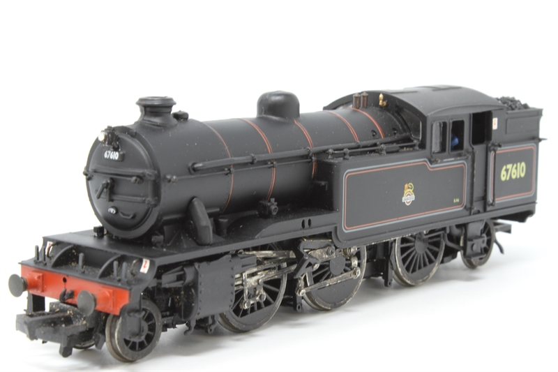 www.hattons.co.uk - Bachmann Branchline 31-605-PO08 Class V3 2-6-2T 67610 in BR black with early emblem - Pre-owned - crew added - real coal added - lamp added - detail loose in box - minor wear to finish - Replacement box