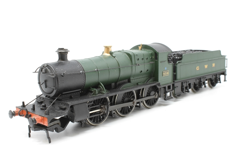 www.hattons.co.uk - Bachmann Branchline 31-825-PO06 Class 43xx 2-6-0 4318 in GWR green - Pre-owned - missing front pony wheels - worn handrail paintwork - missing couplings - marks on top of tender buffer loose from tender - replacement box