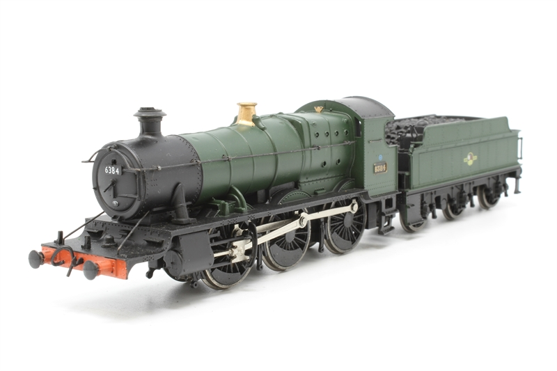www.hattons.co.uk - Bachmann Branchline 31-826-PO11 Class 43XX 2-6-0 6384 in BR green with late crest - Pre-owned - slow and wobbly runner - missing front pony wheels - damaged steps beneath cab on one side - glue marks on cab floor - damaged tender handrail - imperfect packaging