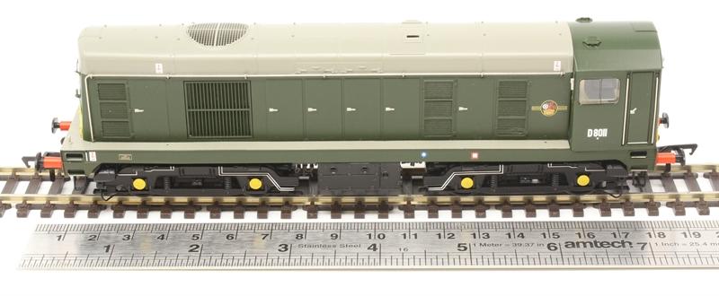 Bachmann 32-027B Class 20//0 Disc Headcode D8011 BR Green Small Yellow Panels