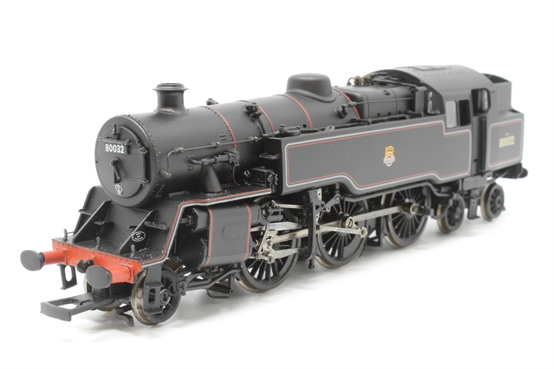 www.hattons.co.uk - Bachmann Branchline 32-352-PO13 Standard class 4MT 2-6-4 tank 80032 in BR lined black with early emblem - Pre-owned - missing front coupling hook - one front buffer stuck in place - Fair box