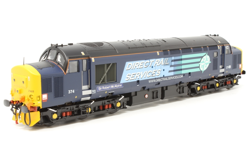 www.hattons.co.uk - Bachmann Branchline 32-381Q-PO05 Class 37/4 37425 in Direct Rail Services Compass livery - Limited edition for Bauer Consumer Media (Model Rail Magazine) - Pre-owned - sound fitted - renumbered - worn numbering - Replacement box