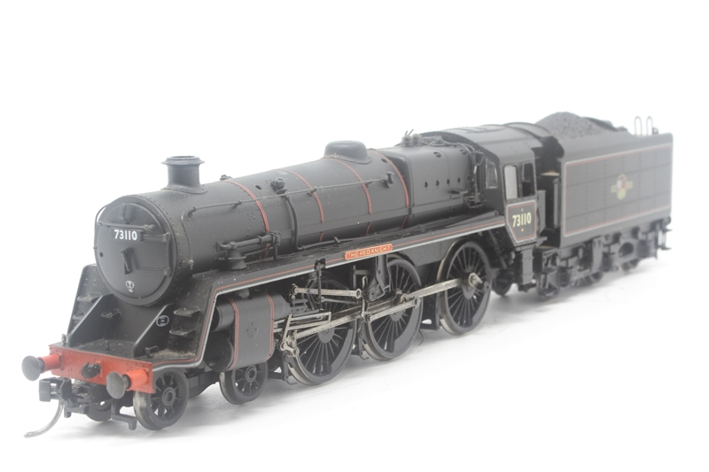 """www.hattons.co.uk - Bachmann Branchline 32-506-PO16 Standard class 5MT 73110 """"The Red Knight"""" & BR1f tender in BR lined black with late crest - Pre-owned - DCC fitted - one replacement coupling - fair box"""
