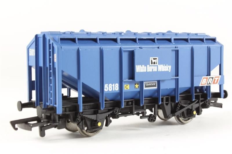 Weathered Bachmann 33-133 35 Ton AL Ex-Bulk Grain Wagon BRT Blue OO Gauge