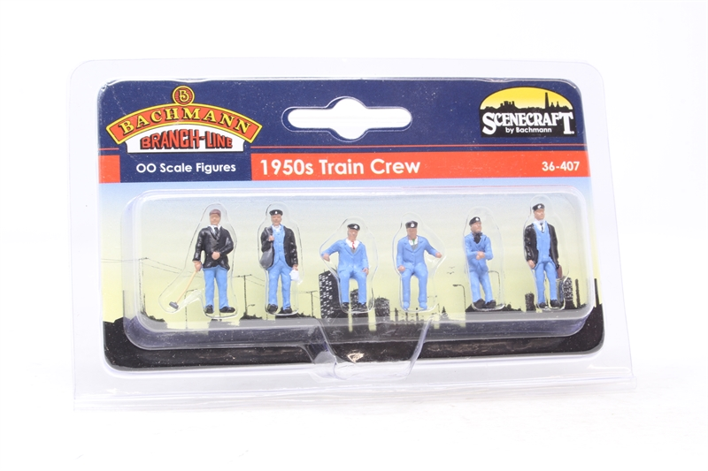 www.hattons.co.uk - Bachmann Branchline 36-407-PO10 1950s train crew - pack of six - Pre-owned - Factory sealed