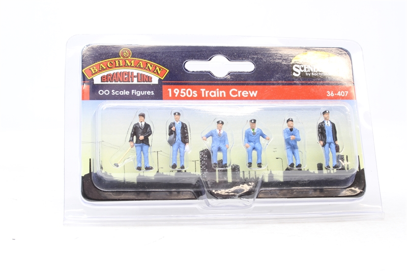 www.hattons.co.uk - Bachmann Branchline 36-407-PO11 1950s train crew - pack of six - Pre-owned - Factory sealed