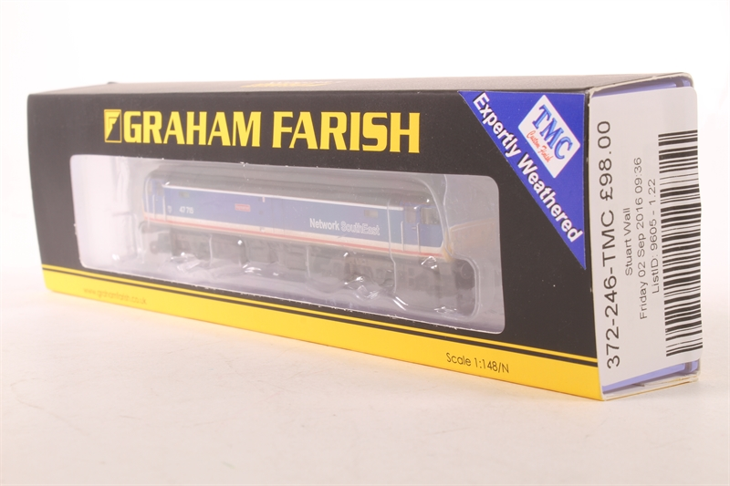 372-248 Graham Farish N Gauge Class 47//4 47550 University of Dundee Weathered