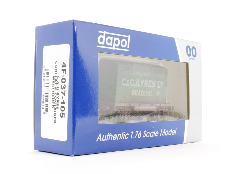 DAPOL 4F-037-105 C/&G Ayres Conflat /& Container Weathered NEW