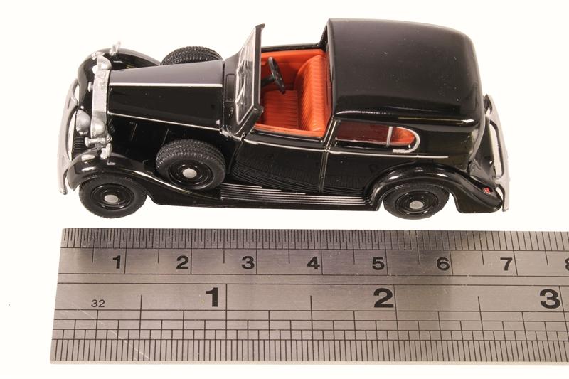76RRP3001 Oxford Diecast 1:76 Scale OO Gauge Rolls Royce Phantom III Black