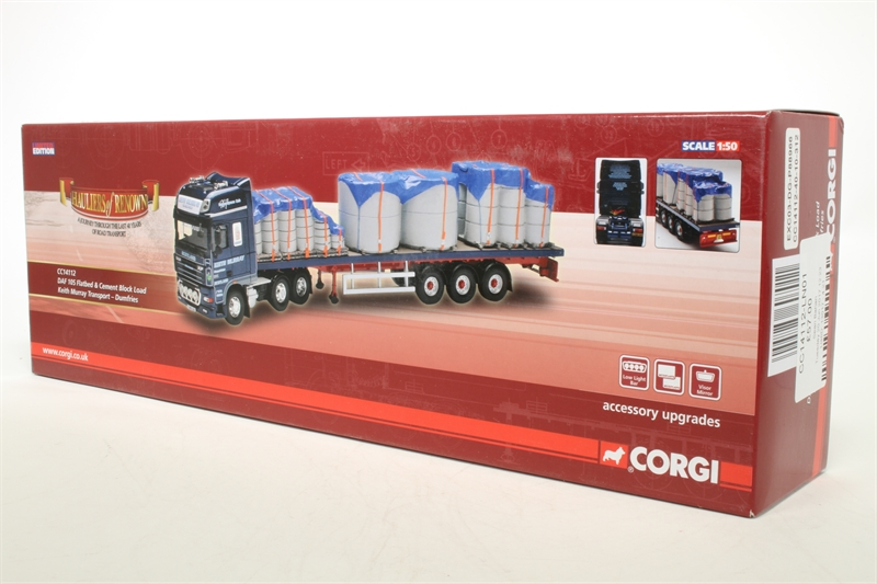 Www Hattons Co Uk Corgi Collectables Cc14112 Ln01 Daf 105 Flatbed Cement Block Load Keith Murray Transport Dumfries Pre Owned Like New