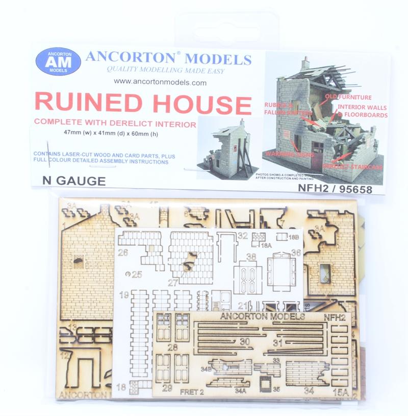 Ancorton 95658 N Gauge Ruined House Kit