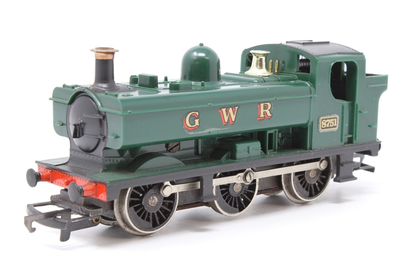 www.hattons.co.uk - Hornby R041Pannier-PO77 Class 57XX 0-6-0PT 8751 in GWR Green - Pre-owned - some wear to finish - Fair box