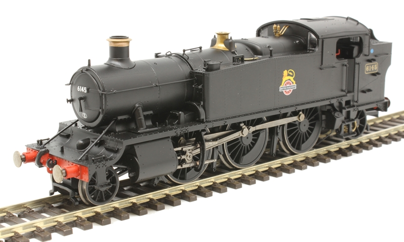 Hornby R3723 - Large Prairie 6145 in BR black with early emblem