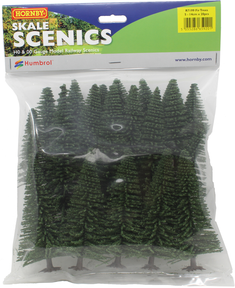 R7201 Multicolor Deciduous and Fir Trees Los Materiales esc/énicos Hornby-Hobby Mixed