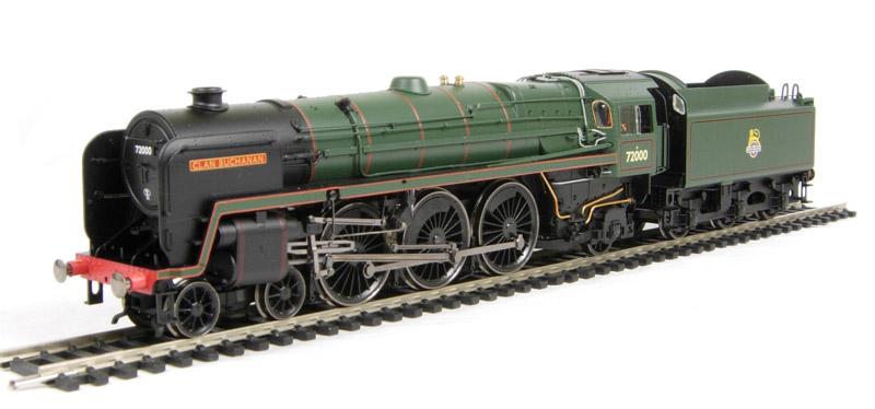 Late BR 00 Gauge DCC Ready Steam Locomotive Hornby R2925 BR Clan MacGregor Clan Class 72005