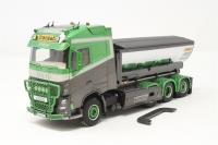 WSI Models 01-2965-PO01 Volvo FH4 globetrotter hooklift asphalt container 'Hakarps Schakt' - Pre-owned - mark on front tyres - trailer body not attached - loose detailing - good box