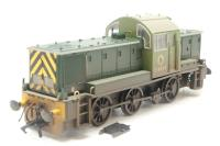 Heljan 1403-PO11 Class 14 D9535 in BR green - weathered - Pre-owned - detached steps - Like new box