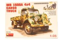 MiniArt 35150MA-PO Mercedes Benz 1500A cargo truck - Pre-owned - Parts loose in box - Very good box