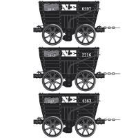 4 wheel Chaldron open wagon