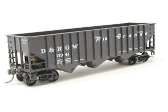 10002SH-PO01 70T 14-Panel Hopper #17341 of the Denver & Rio Grande Western Railroad - Pre-owned - kit-built - fair box