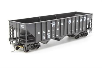 10210SH-PO 70 ton 3-bay hopper #17896 'D&RGW' - Pre-owned - Good box