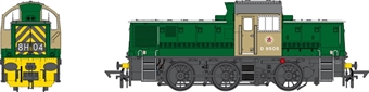1412 Class 14 D9505 in BR green with wasp stripes