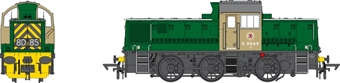 1413 Class 14 D9545 in BR green with wasp stripes - weathered