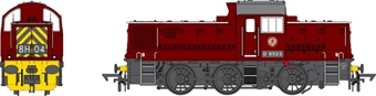 1415 Class 14 D9523 in BR maroon - as preserved